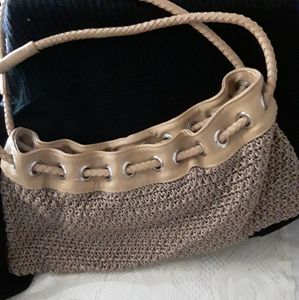 Hand bag taupe color